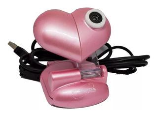 Camara Web Vga 480p Microfono Pc Usb Webcam Corazon Cuotas