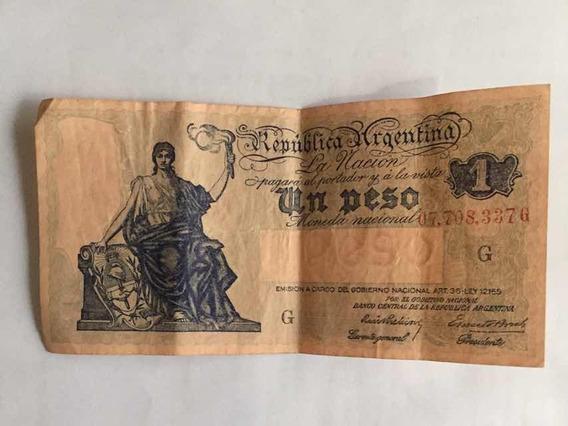 Billetes Argentinos Antiguos D 1 Peso En Perfecto Estado