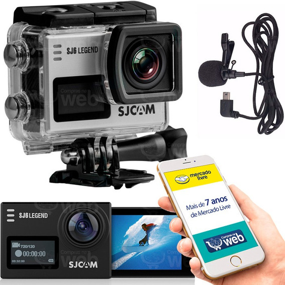 Camera Sjcam Sj6 Legend 4k Full Hd Wifi Original + Microfone