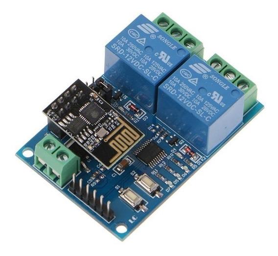 Modulo Relê Wifi Duplo Esp8266 - Relê Esp8266 Esp01
