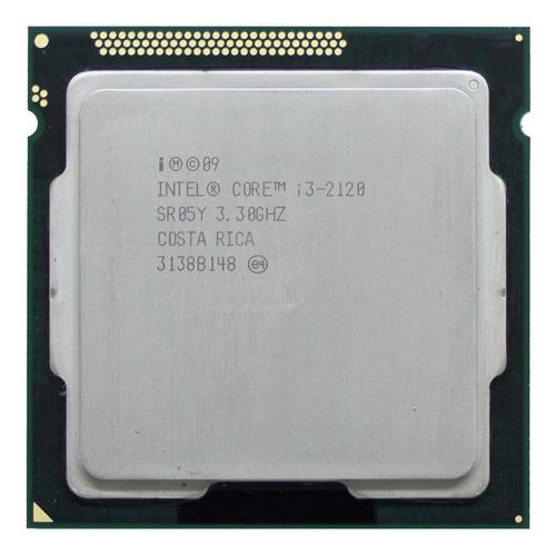 Imagem 1 de 2 de Processador gamer Intel Core i3-2120 CM8062301044204 de 2 núcleos e 3.3GHz de frequência com gráfica integrada
