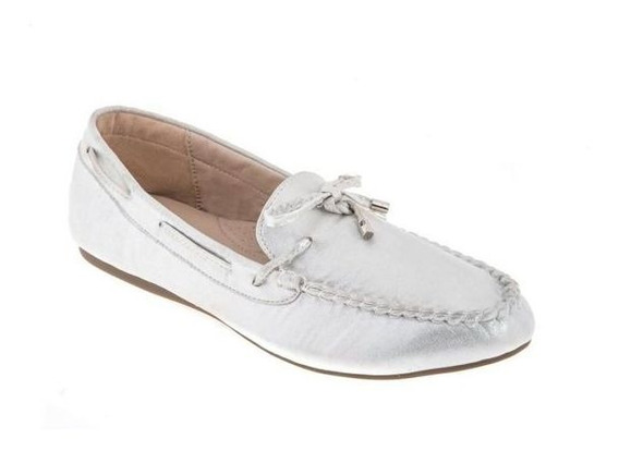 Flats De Dama Casual Shosh Id 829389 Textil Plata