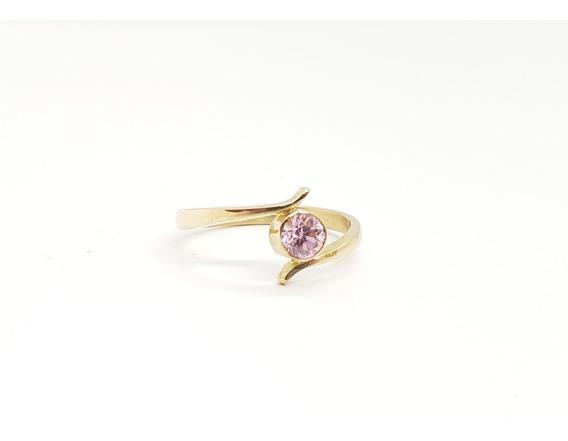 Anillo Oro 18k-compromiso-rosa De Francia - 2,2 Grs - An191