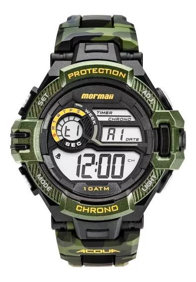 Relógio Mormaii Digital Acqua Mo11348v Verde Camo Original