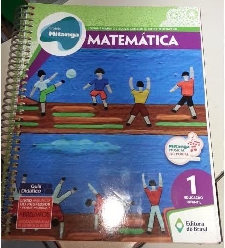 Projeto Mitanga Matemática 1 Educação Infantil Guia Didático