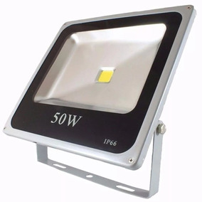 Refletor 50w Super Led Holofote Bivolt Slim Branco Frio