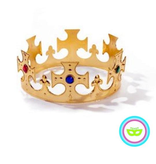 Corona Rey Dorada Brillante Jeques Cotillón