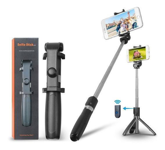 Pau De Selfie Tripe Bluetooth Sem Fio Original De Qualidade
