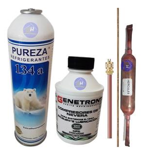 Gas 134a 1kilo Aceite Para Nevera Filtro Valvula Varilla 22$