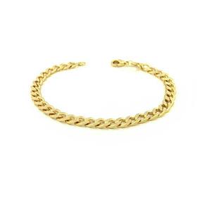 Pulseira Masculina Grumet Banho De Ouro Ac0502712