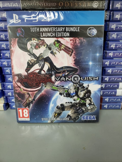 Bayonetta & Vanquist 10th Aniverssário Bundle Ps4 Steelbook