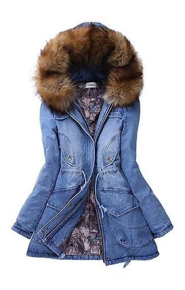 Chamarra Cazadora Mezclilla Frio Moda Fashion Premium Mujer