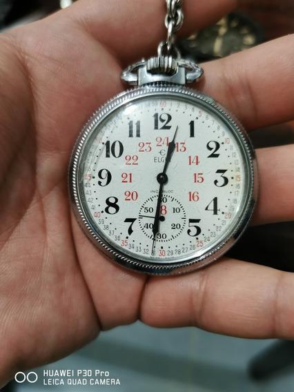 Reloj Elgin De Bolsillo Ferrocarrilero