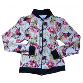 Jaqueta Bomber Feminina Floral Estampas Atacado Kit 10
