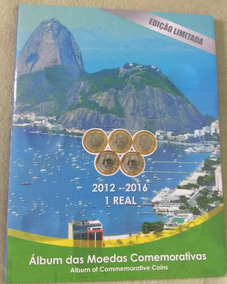 Álbum De Moedas Das Olímpiadas - Completo Com Bandeira