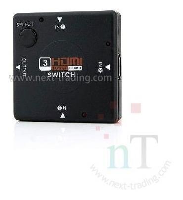 Switch Hub Hdmi 3 Entradas X 1 Saída