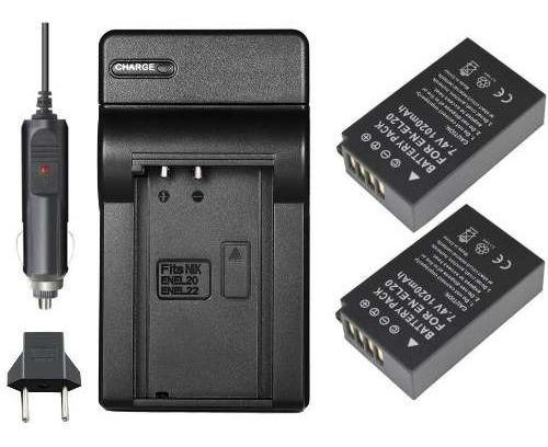 2 Baterias E Carregador Para Nikon Coolpix P1000