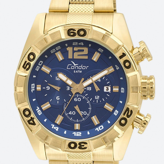 Relógio Masculino Condor Dourado Original Grande Garantia