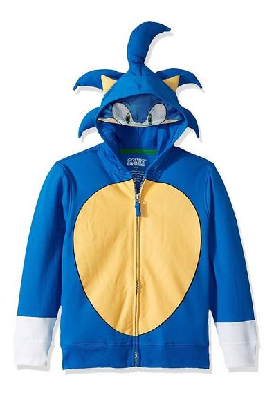 Sudadera Hoodie Sonic Original Tallas 5-6 Y 10-12 Años