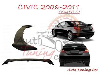 Coleta Spoiler Tapa Baul Honda Civic 2006-2011 Coupe Si