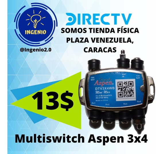 Multiswitch 3x4 (13verd) Eagle Aspen De Direc-tv