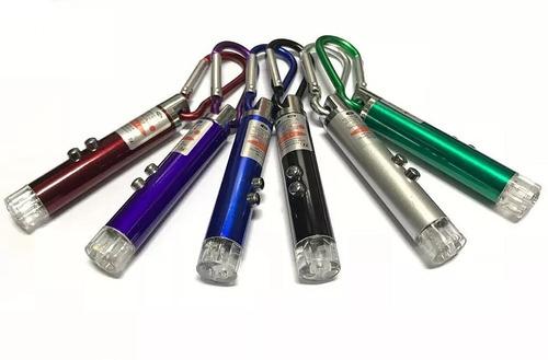 Imagen 1 de 5 de Puntero Laser Rojo Con Linterna Uv Violeta 3 En 1 Llavero