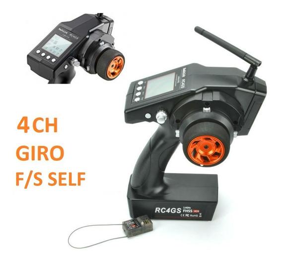 Rádio Automodelo / Barco / Giro Rc4gs 2.4ghz 6ch Rec. Trasm.