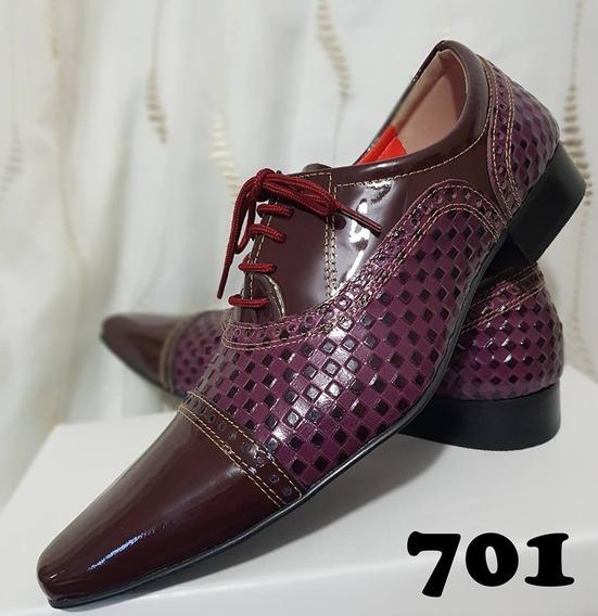 Sapato Social Masculino Couro Importado Sbr +broche+frete**