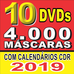 10 Dvds +4.000 Máscaras Digitais Agora Com Calendarios 2019