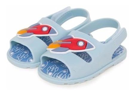 Sandalia Infantil Masculina Pimpolho Colore Foguete