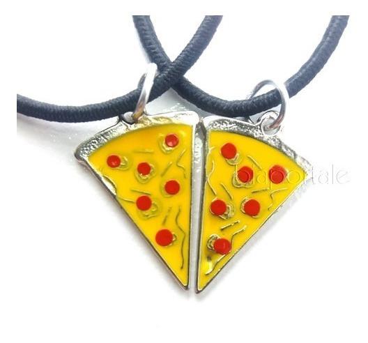 Colar Da Amizade Best Friends Pizza 2 Pedaços