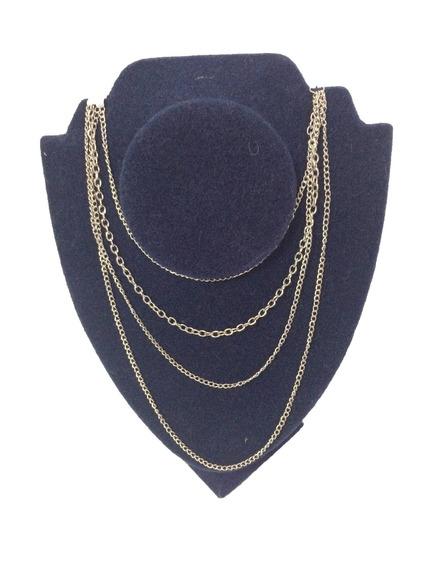 Exhibidor Velour Para Collares Cadenas Vertical 23x17 Cms