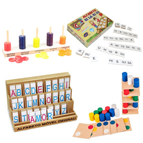 Kit 4 Brinquedos Educativos Pedagógicos Menino E Menina