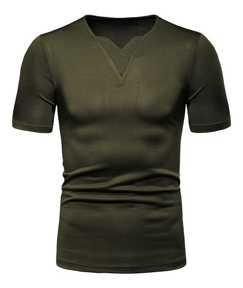 Camiseta De Los Hombres Verano Slim Fit Verano