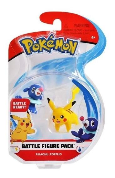 Miniatura Pokémon Battle Figure Pikachu E Popplio