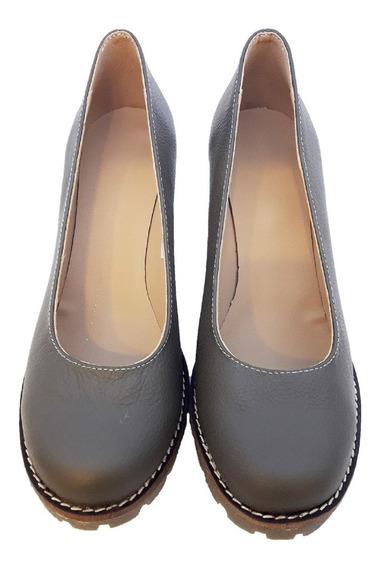 Zapatos Full Comfort De Mujer - Taco Chino- Cuero - Lubeca