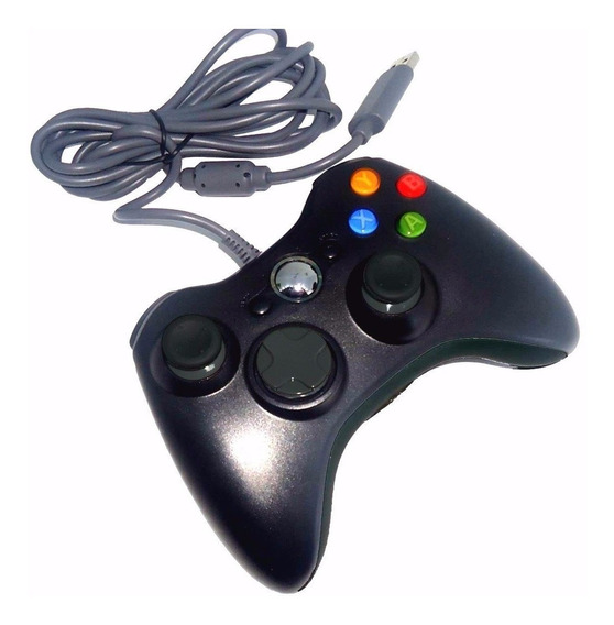 Controle Joystick C Fio Xbox 360 Slim E Pc Emulador Notebook