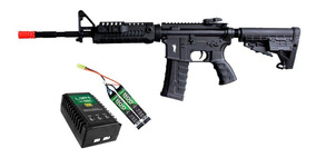 Rifle Airsoft M4a1 Caa Custom King Arms + Kit Bateria Lipo E