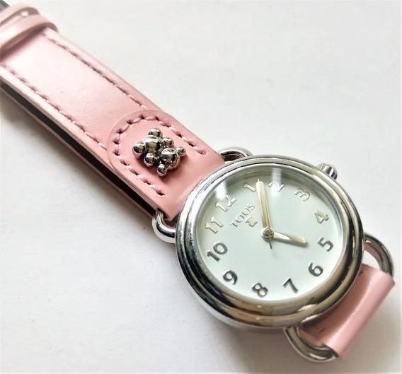 Reloj Tous Nuevo Original Correa Piel Nuevo 16cm Pulso $2500