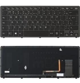 Teclado Para Notebook Sony Vaio - Modelo Svf14n15cb