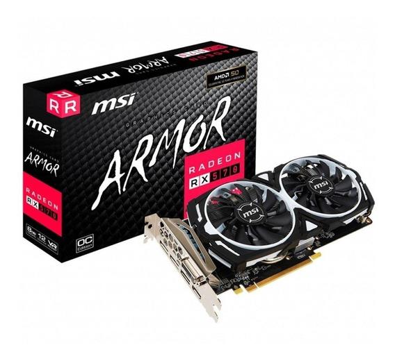 Placa de vídeo MSI Radeon RX 500 Series RADEON RX 570 ARMOR 8G OC 8GB