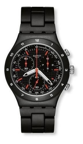 Relógio Swatch  Black Coat Ycb4019ag Alumínio Preto Original