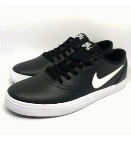 Tênis Nike Sb Check Solar Couro Black White