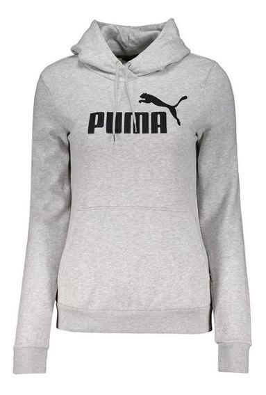 Moletom Puma Essentials Fleece Feminino Cinza