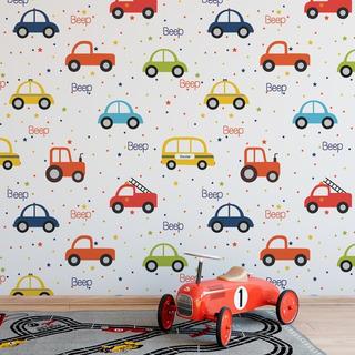 Papel De Parede Infantil Carros Menino Carrinhos - Ref 4008