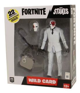 Personaje Fornite Wild Card Red Suit Con Valija