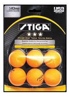 6 Pelota Stiga 3-estrellas Ping Pong Tenis De Mesa Beerpong