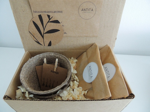 Imagen 1 de 5 de Kit Biodegradable Autocultivo.un Regalo Original Y Ecológico