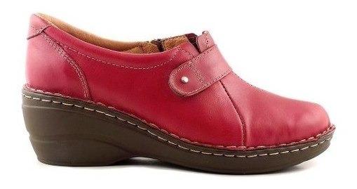 Zapato Mocasin Mujer Cuero Briganti Taco Confort - Mcmo03625