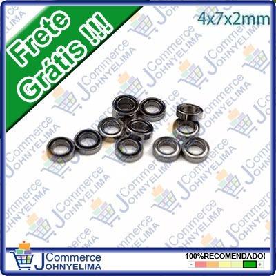 5 Peças De Micro Rolamento 4x7x2mm - Mr74z Frete Grátis!